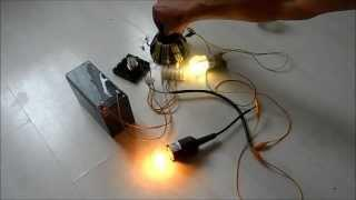Killer Joule Thief 12v - 220v 16,25,60 Watt light - Quest for Overunity Free Energy Part 2