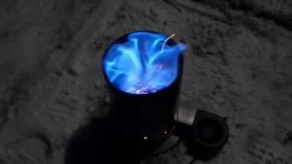 Camping Wood Gasification Stove Test 1