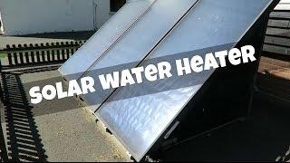 Solar water heater at Marsh Farm