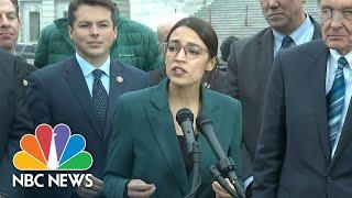 Alexandria Ocasio-Cortez Brands Climate Change Proposal As 'Green New Deal' | NBC News