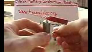 Edison Edison nickel iron battery homemade Batería Edison de Níquelhierro casera