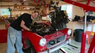 Part 3 - Pulling the Engine and Transmission - Austin Healey Sprite EV Conversion - evsprite.com