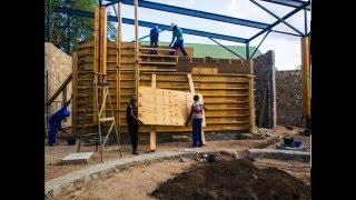 Rammed Earth Construction formwork removal