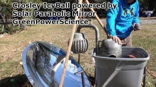 Crosley IcyBall Solar Absorption Refrigeration Parabolic Mirror GreenPowerScience