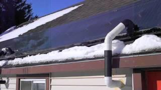 ECOSHAH (solar hot air heater) winter performance