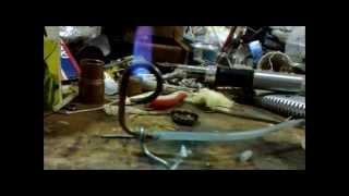 Autonomy: only pressurized pipe (alcohol stove)