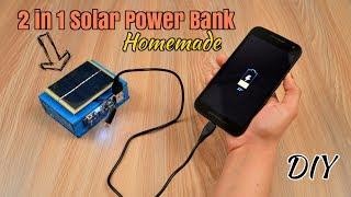 How to Make a 2 in 1 Solar Power Bank from Scrap Laptop Battery - Homemade