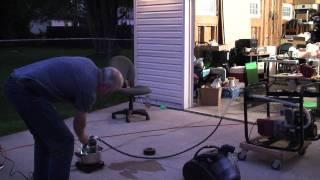 The Pipe Assembly Ultrasonic Vapor Carburetor 5000 Watt Generator Run First Test Run On 8-14-2011