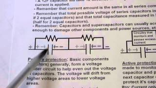 Lecture on series capacitor and supercapacitor balancing while charging. Electronics tutorial lesson