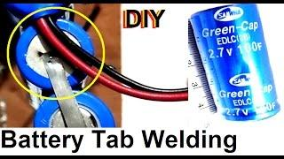 home made battery tab Spot welding  Super Capacitor Ultra capacitor machine  for lithium ion