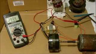 Small Induction motor conversion to generator (example)
