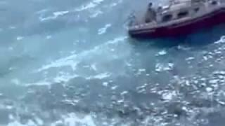 Giant Wave destroys sailboat