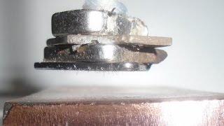 Ímã de Neodímio e Placa de Cobre - Neodymium Magnet and Copper Plate