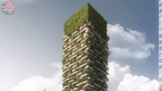 Green living reaches new heights: 'Vertical forest' towers containing a hotel and offices