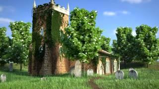 Blender Architecture: Church in Forest