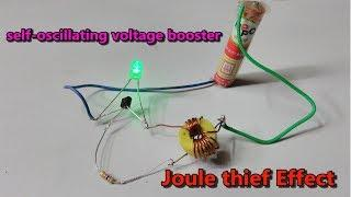Joule Thief- self oscillating voltage booster low voltage to high voltage