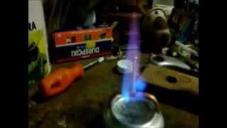 Making a Simple Pressurized Alcohol Stove ( low profile)