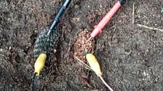 Pot Scrubber earth battery ----running a pulse motor