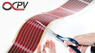 infinityPV foil - printed organic solar cells - cutting & electrical contacting DIY