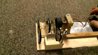 Flywheel Car Powered by External Motor- ASME Energy Relay