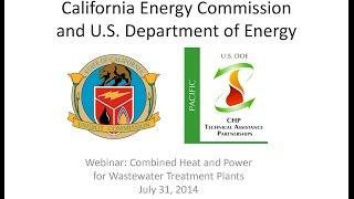 Webinar: Combined Heat and Power for Wastewater Treatment Plants