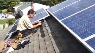 Enphase Micro Inverter solar installation nice and easy