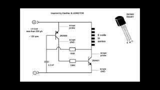 Pulse Motor and Two Transistor Circuit