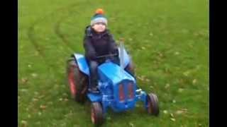 Kids' Electric Tractor Ride On Fordson Dexta replica