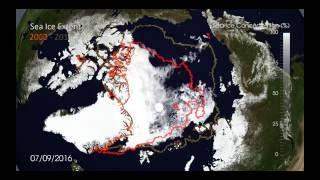 Arctic Sea ice 2016 / Melt season / Minimum