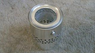 "Homemade ""Gallon Can"" Wood Stove! - ""Tin Can"" Wood Stove - Easy DIY"