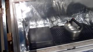 Do it yourself solar oven reaching 300 degree F