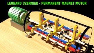 Free Energy Generator, LEONARD CZERNIAK Permanent Magnet Motor