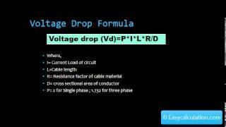 Voltage Drop Calculator - Formula