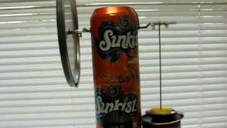 Soda can Stirling engine - 860 rpm