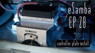 DIY EV conversion eSamba - Controller Plate installation