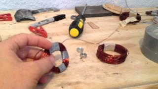DIY wind turbine 5, free energy, making coils for free