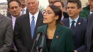 "Ocasio-Cortez & Markey Unveil Sweeping ""Green New Deal"" to Radically Shift U.S. Off Fossil Fuels"