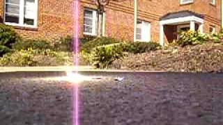 Solar Power! Fresnel Lens melts nickle and copper