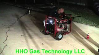 Pt 2 First Ultrasonic Gasoline Vapor 7000 Watt Generator Run