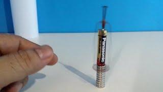 Feira de Ciências - experimento 03 - Motor Homopolar - motor mais simples do mundo