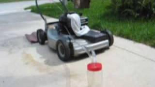 #2 Lawn Mower Running on 50% Water and 50% Gas, No Reactor