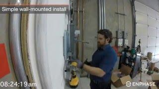 Enphase Storage System Install Timelapse - Enphase AC Battery - Solar Storage