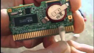 Replacing your Gameboy Advance cartridge battery.
