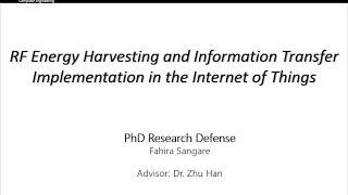 RF energy harvesting and information transfer implementation in the Internet of Things