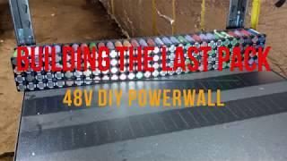 Building the last pack for my DIY 18650 Powerwall