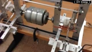 Future generator for free energy? Prototype Flywheel Energy Storage build by oren gertel - free