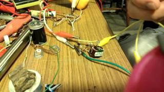 CURIOUS TYPE JOULE THIEF FOUND IN SOLAR GARDEN LIGHT