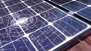 Home Rooftop Solar Power System Update - Shattered Panel!