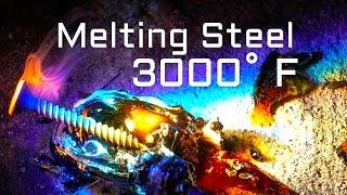 MOLTEN 3000 DEGREE Solar Knife vs SOLID STEEL SCREWS FRESNEL LENS