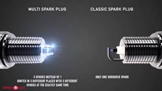 Brisk Premium Multi-Spark vs Standard spark plug video 3D demonstration